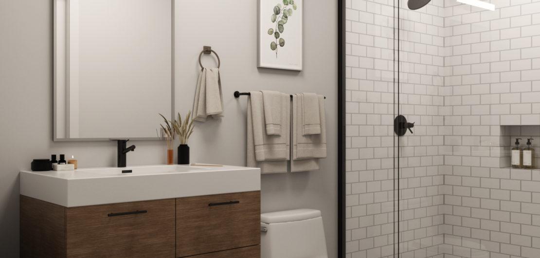 1539 N 26th St - Apartment Bathroom Rendering