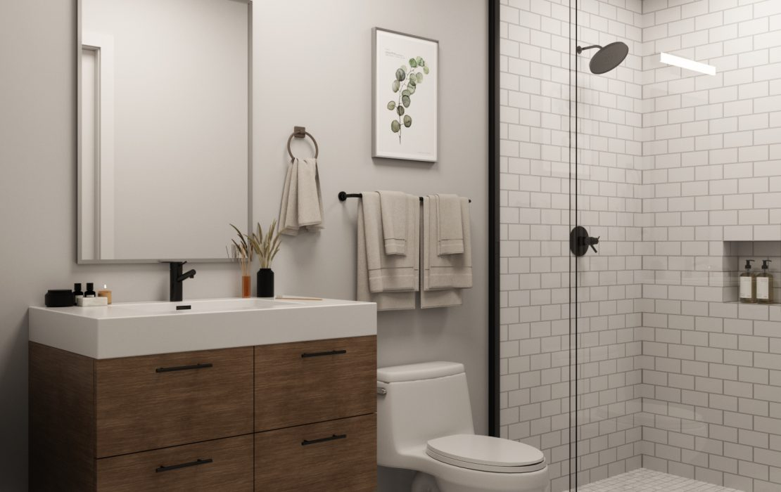 1539 N 26th St - Apartment Bathroom Rendering