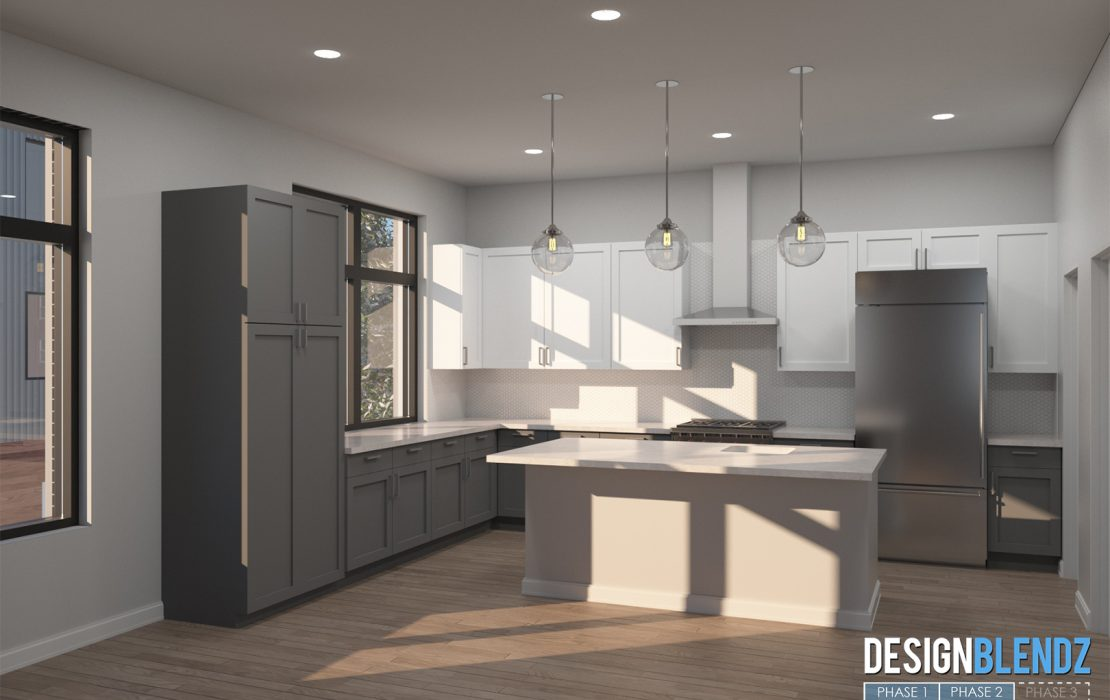 1802 Francis St - Renderings (Kitchen)