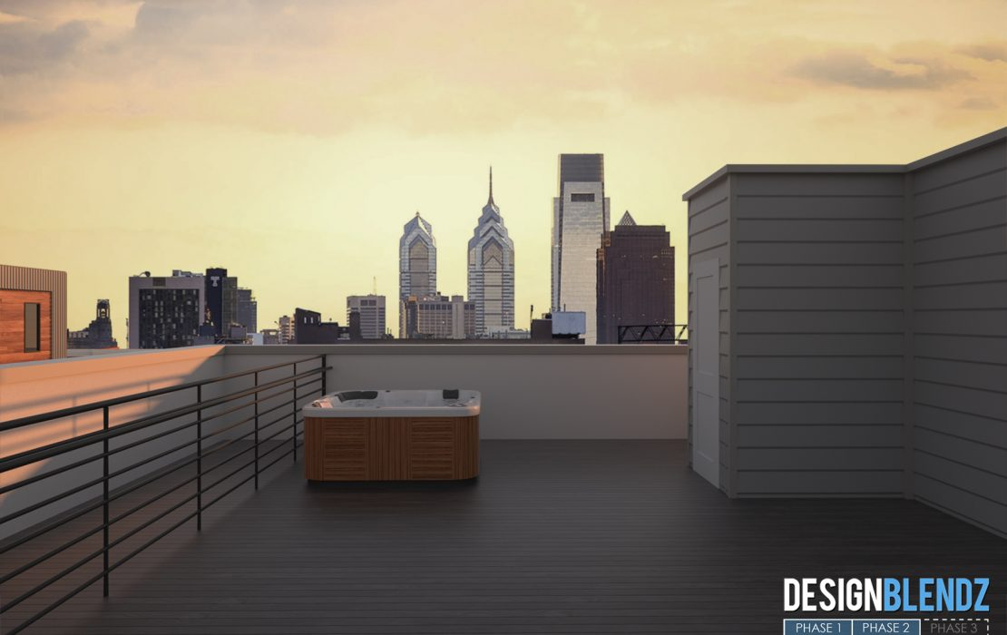 1802 Francis St - Renderings (Roof Deck)