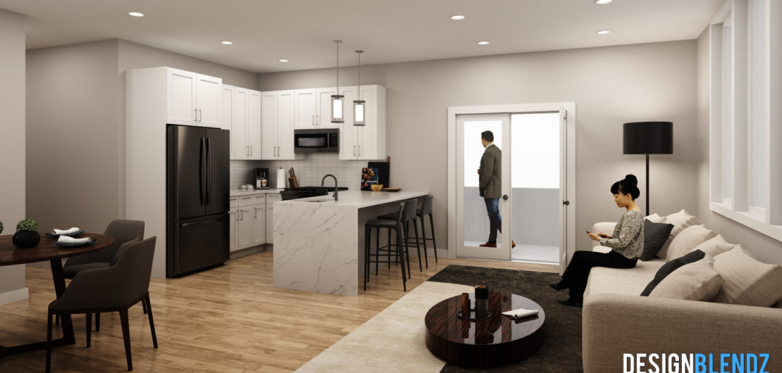 1539 N 26th St - Apartment Kitchen Rendering